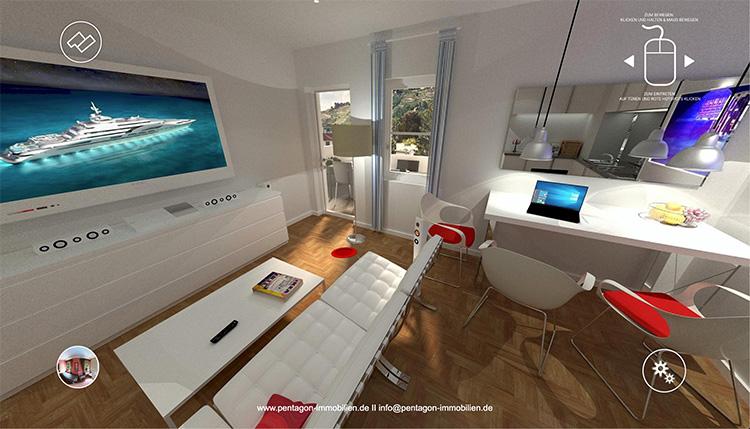 3D-Rundgang Meissner Strasse 79 Wohnzimmer