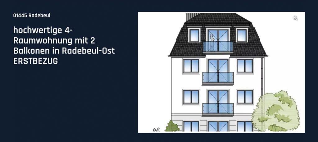 Hochwertige 4-Raumwohnung mit 2 Balkonen in Radebeul-Ost