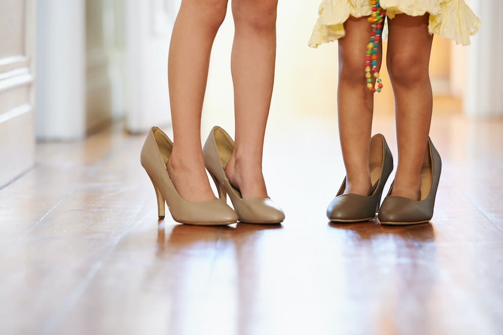 Übergroße High Heels